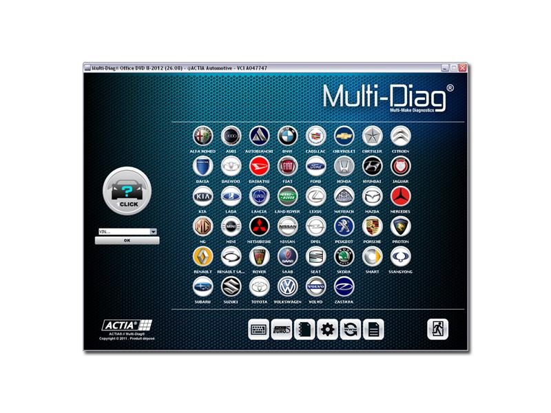 module de diagnostic multimarque actia multidiag diag